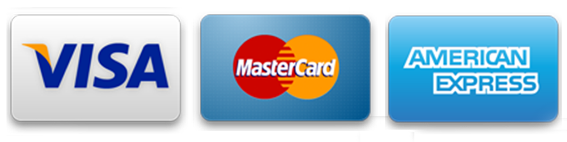 Visa MasterCard Amex logo